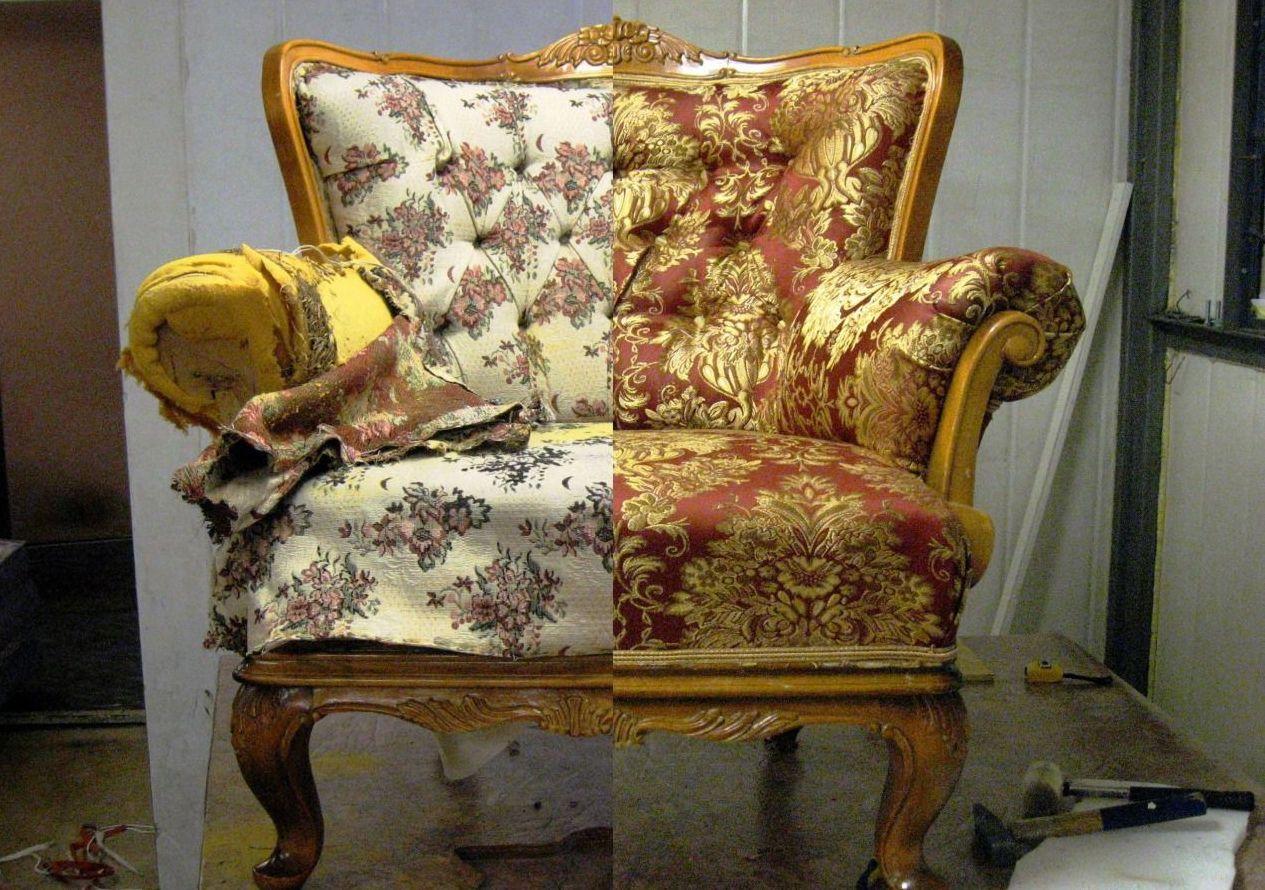 Как своими руками обшить старое кресло своими руками фото 338