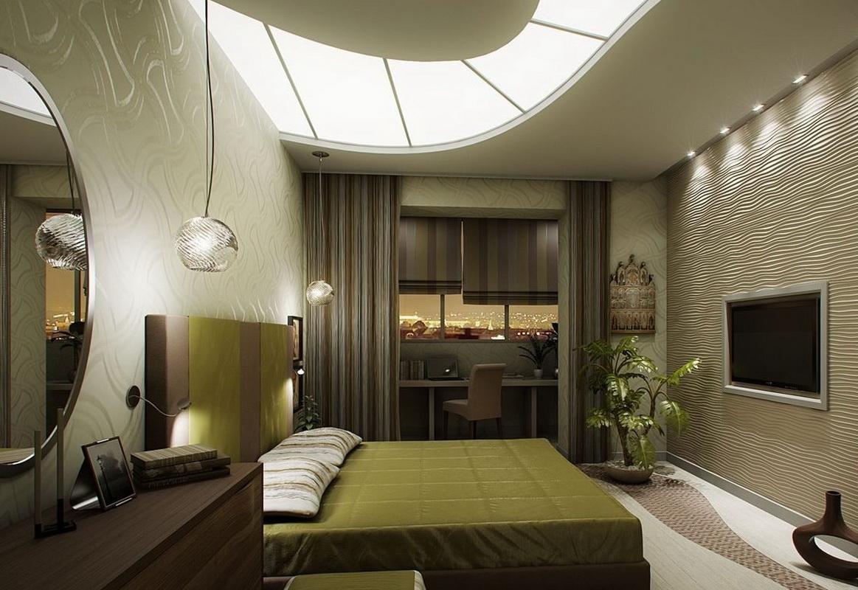 Спальня-гостиная (116 фото): дизайн совмещенной гостиной и з.