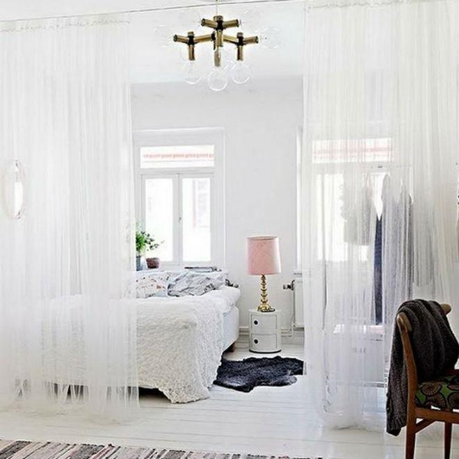 интерьер детской и спальни в одной комнате фото
