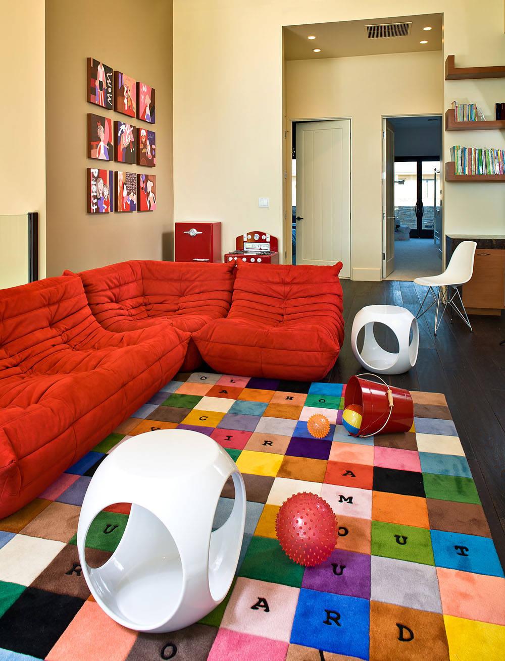 Интерьер детской игровой комнаты - фото-обзор самых красивых.