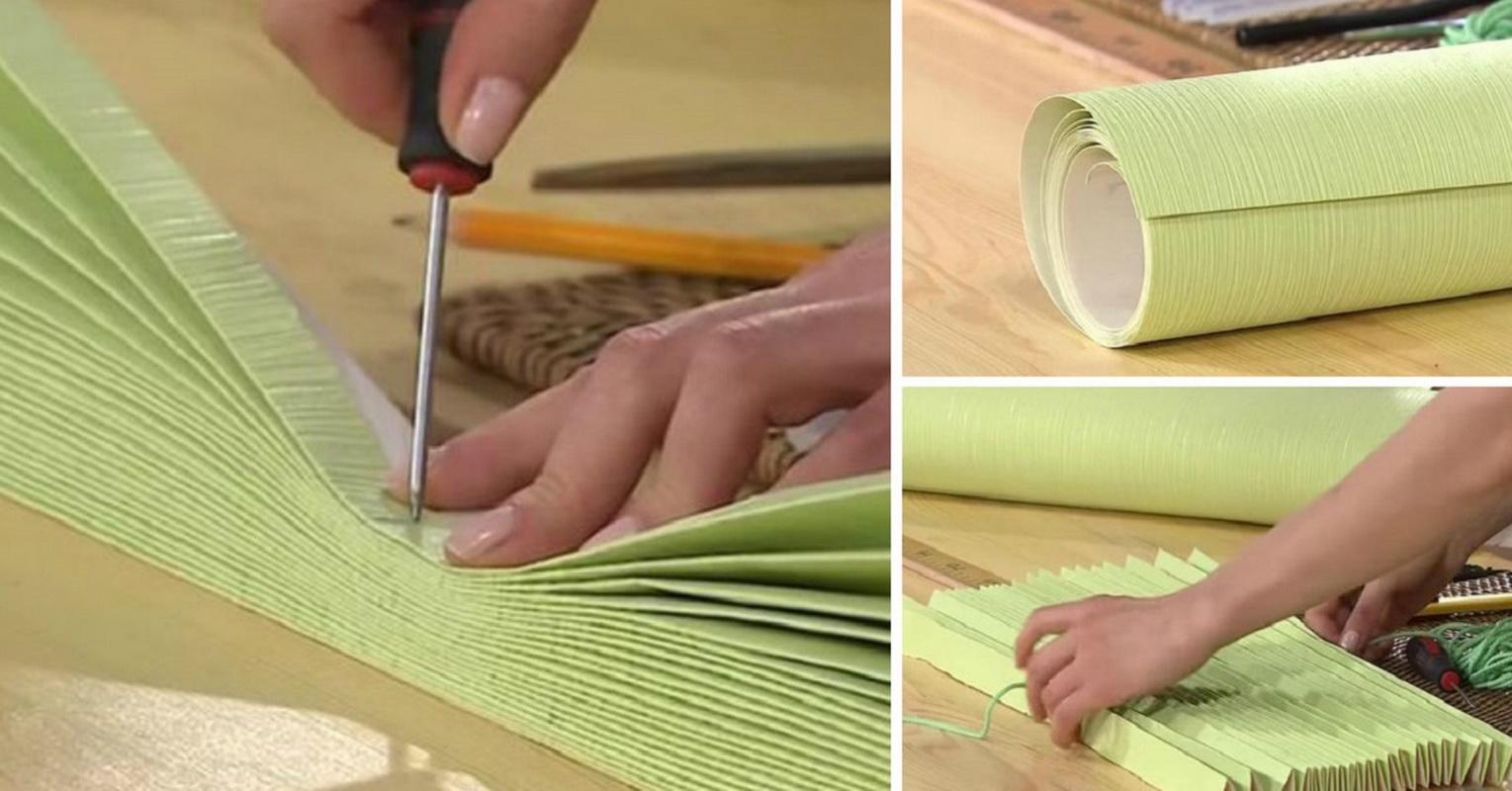 Как сделать жалюзи из ткани своими руками фото