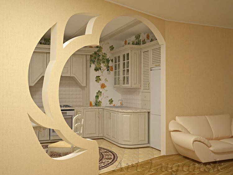 Арки из гипсокартона на стене фото дизайн интерьера своими руками 25