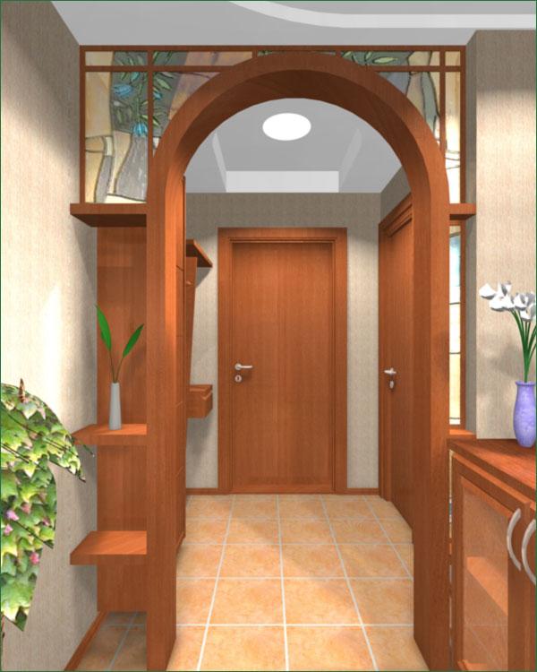 Дизайн прихожих с аркой