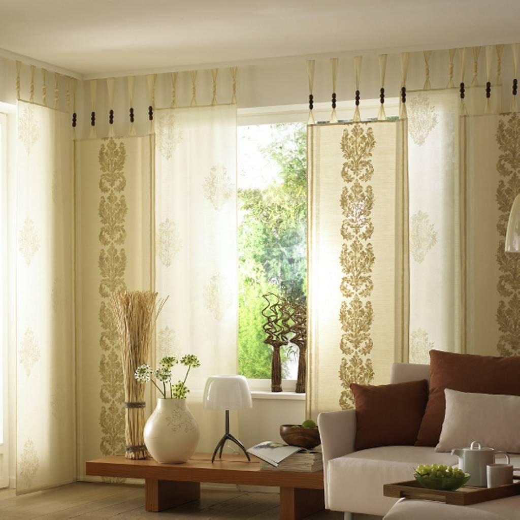 шторы в кремовом цвете