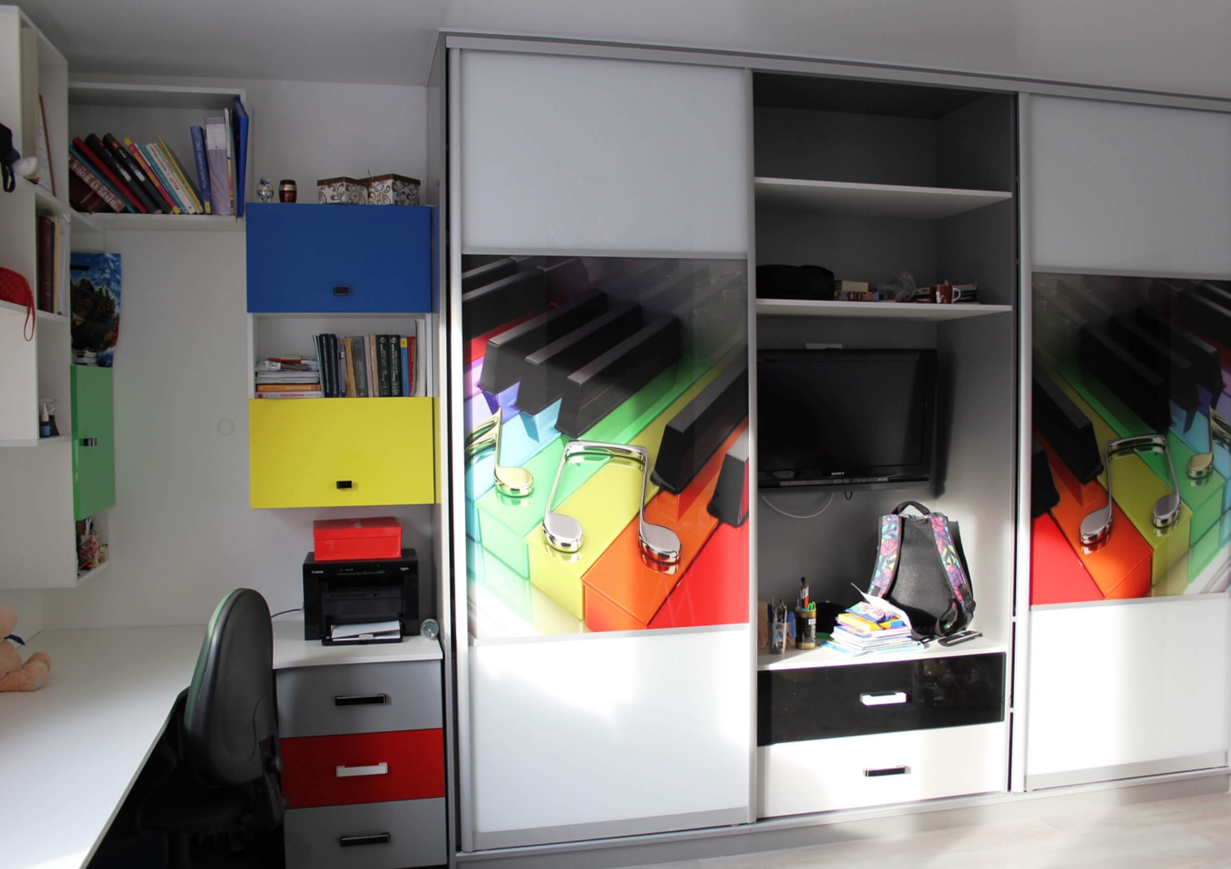 Шкаф купе в детскую комнату - виды и правила выбора фото.