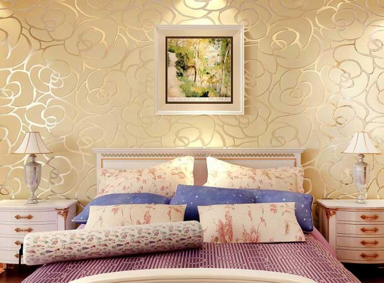 Обои для спальни каталог фото в интерьере светлые тона