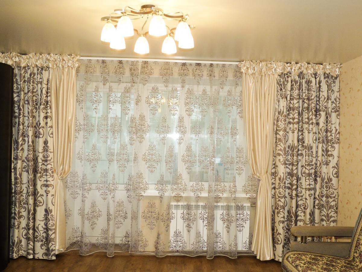 шторы с тюлью фото