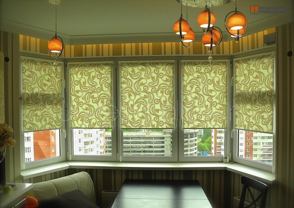 Дизайн штор для кухни с эркером дизайн кухни - фото, описани.
