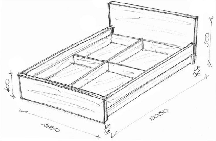 Схема сборки кровати лазурит