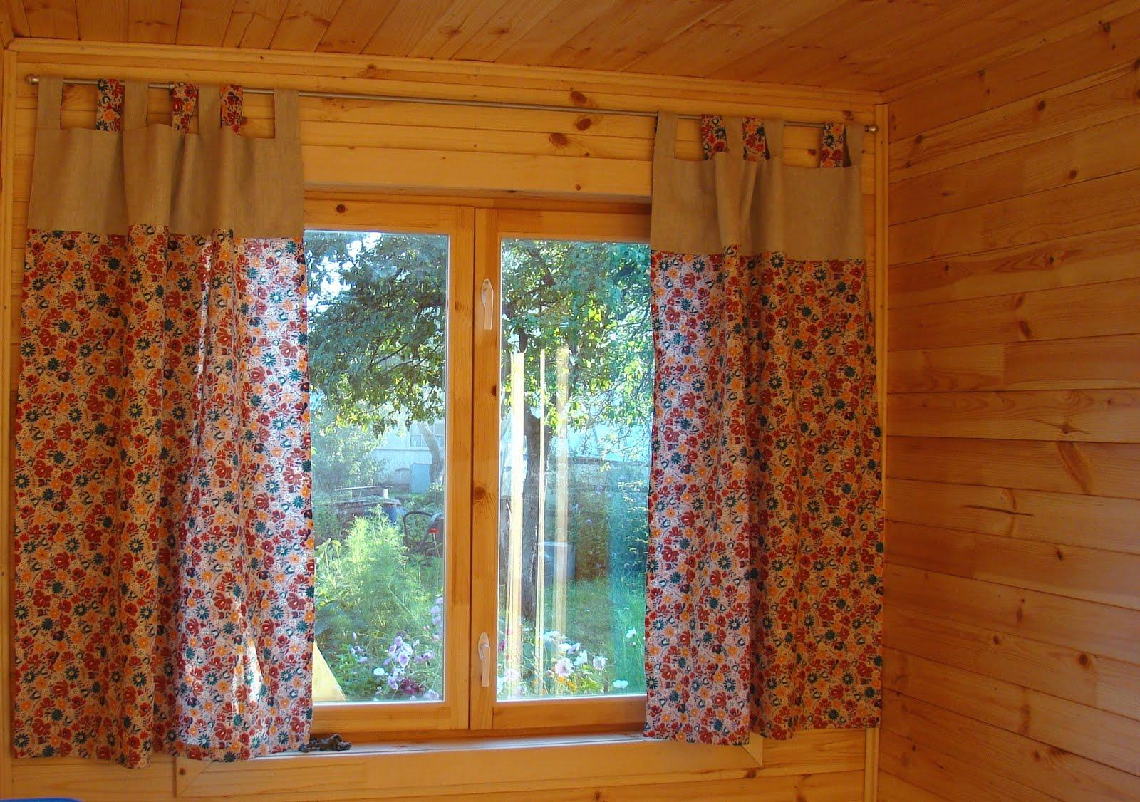 Как сшить дачной шторы