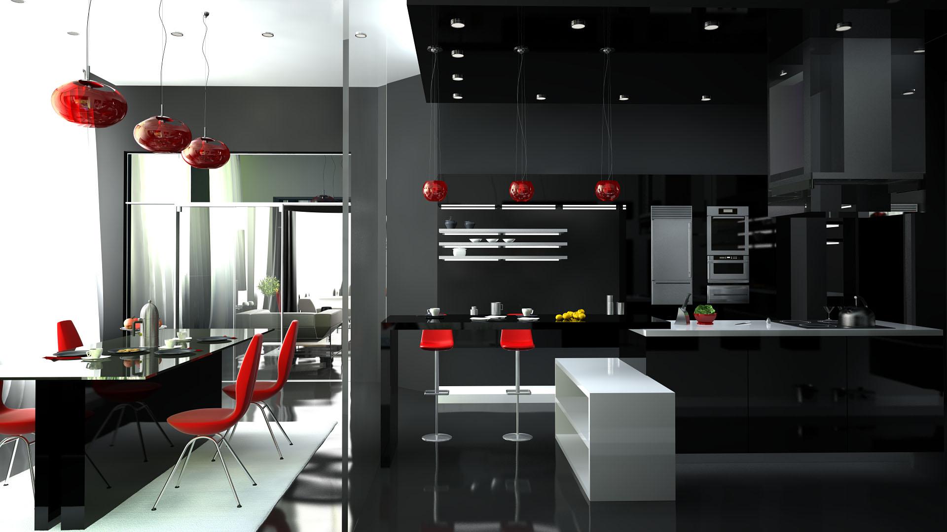 Фотогаллерея дизайна кухонь в стиле хайтек