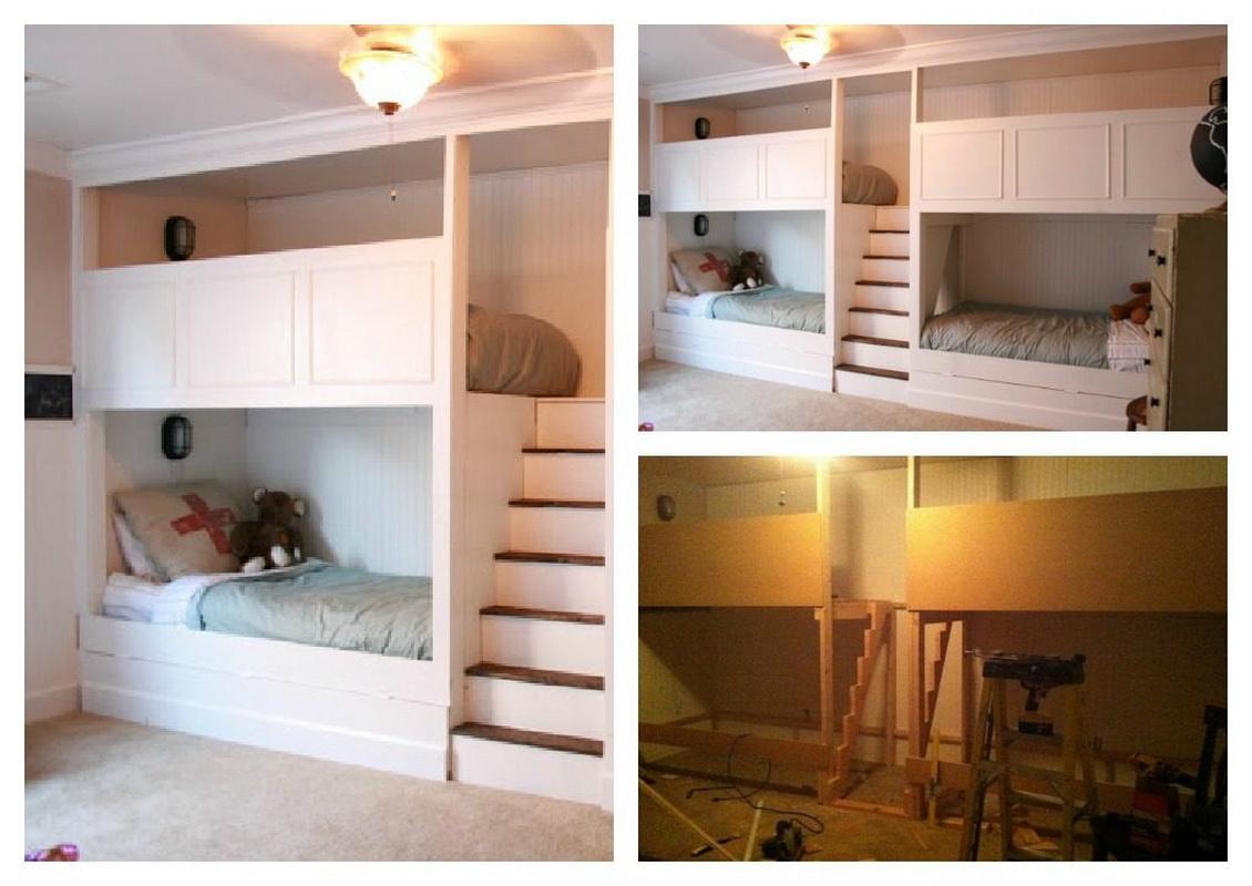 Homeofficedekorasjon built in bunk beds ideas.