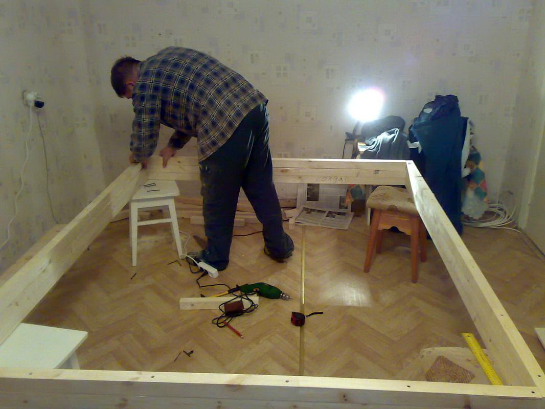 Как обновить деревянную кровать своими руками фото 663