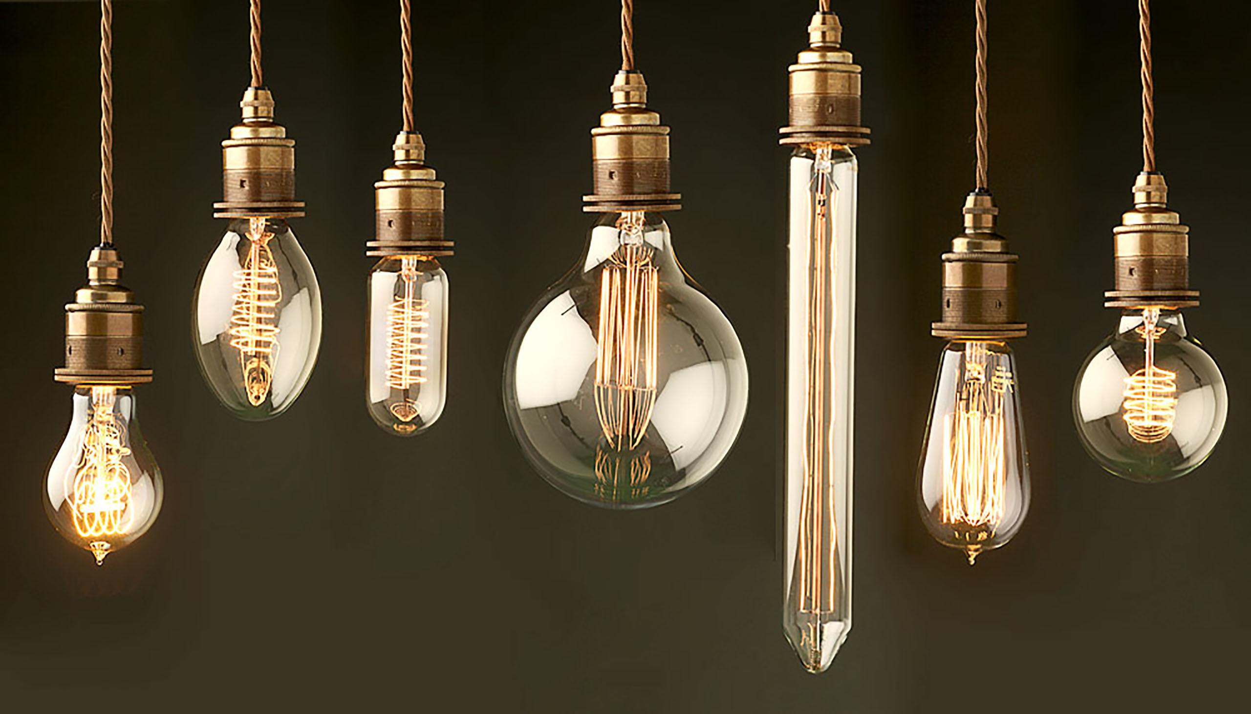 Лампа Эдисона (101 фото): светодиодная в стиле «ретро», красивые светильники и люстры с лампочкой в интерьере, история
