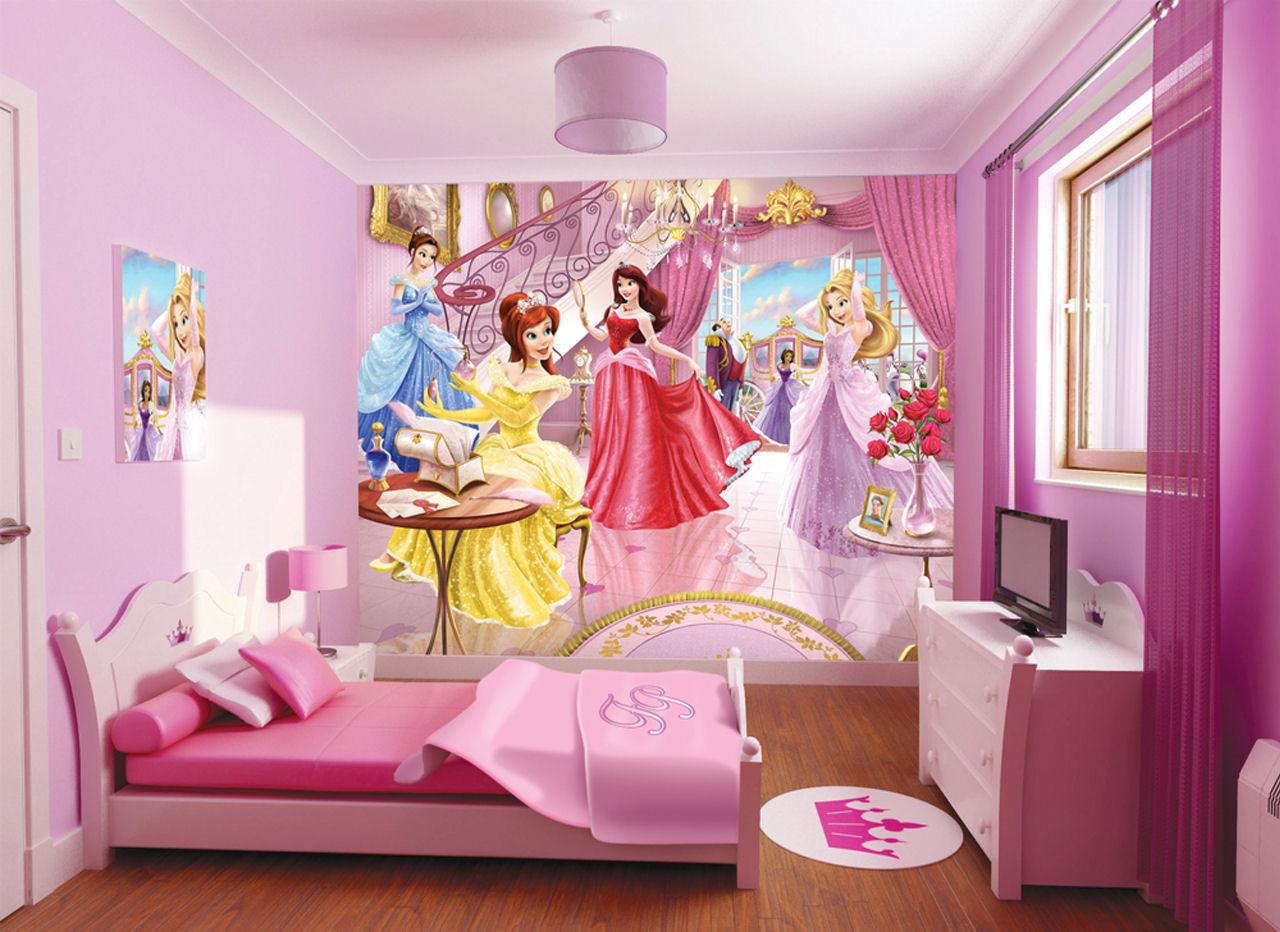 Дизайн стен комнаты для девочек