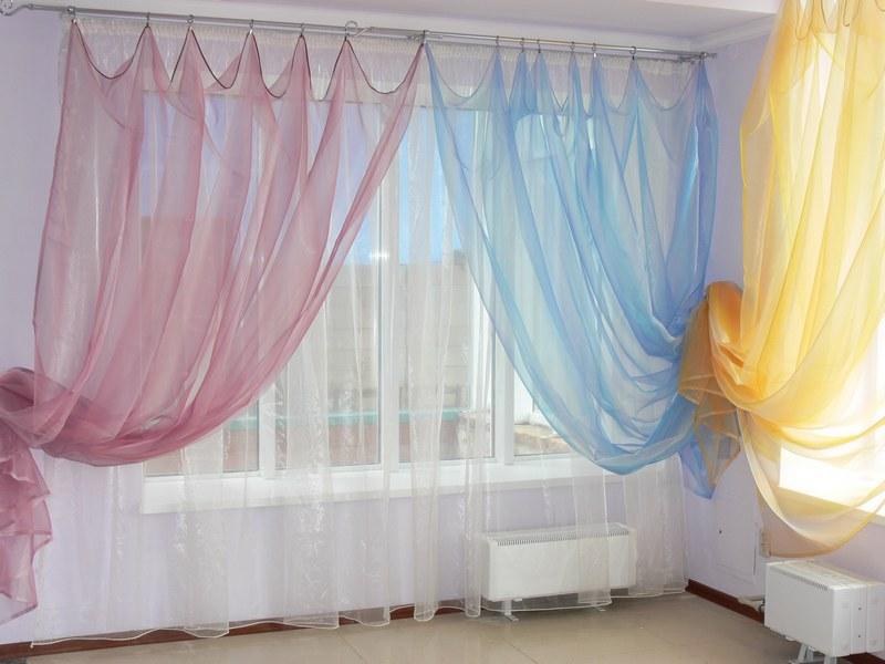 фото шторы с органзой