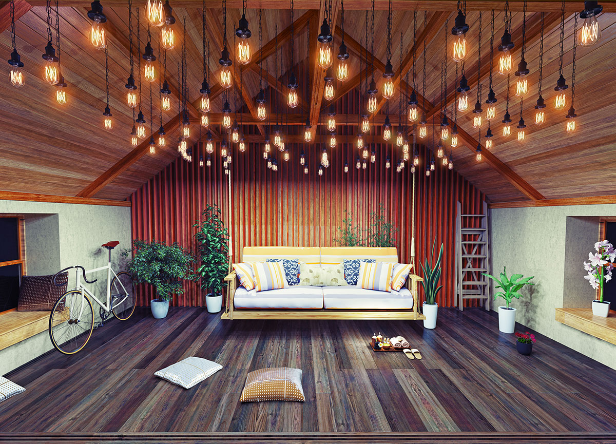 Освещение в деревянном доме 30 фото провод на веранде