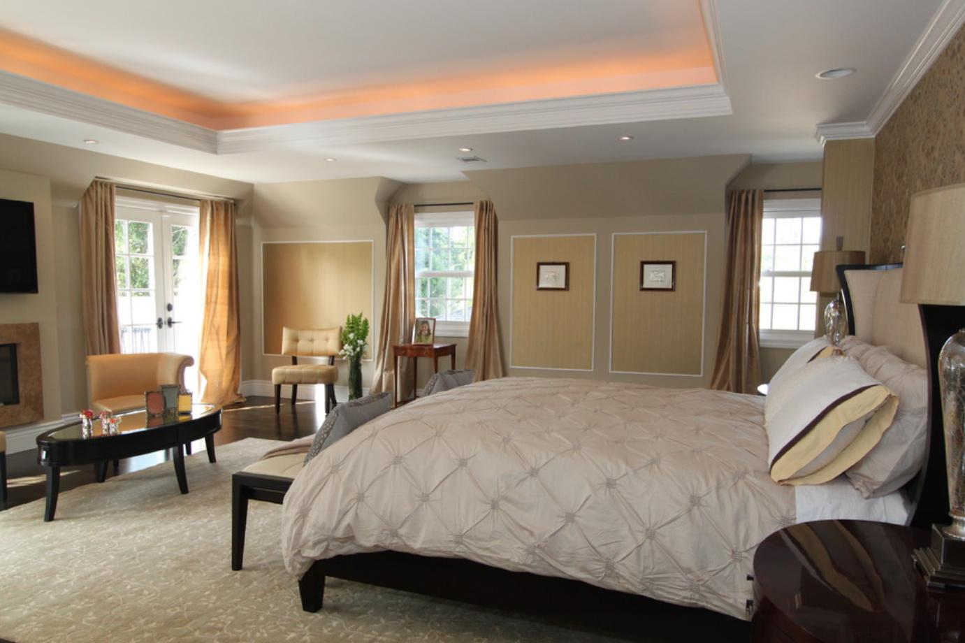 Как сделать красивый потолок в спальне фото