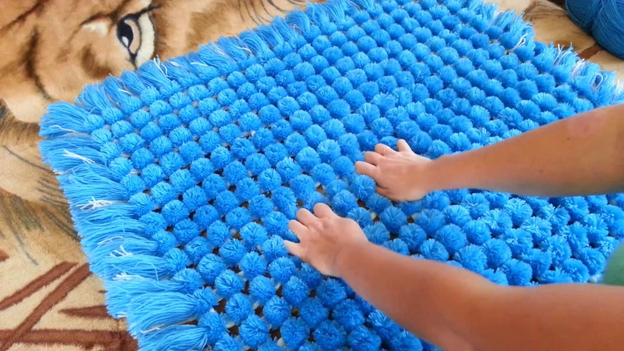 Вязание пледов из помпонов своими руками