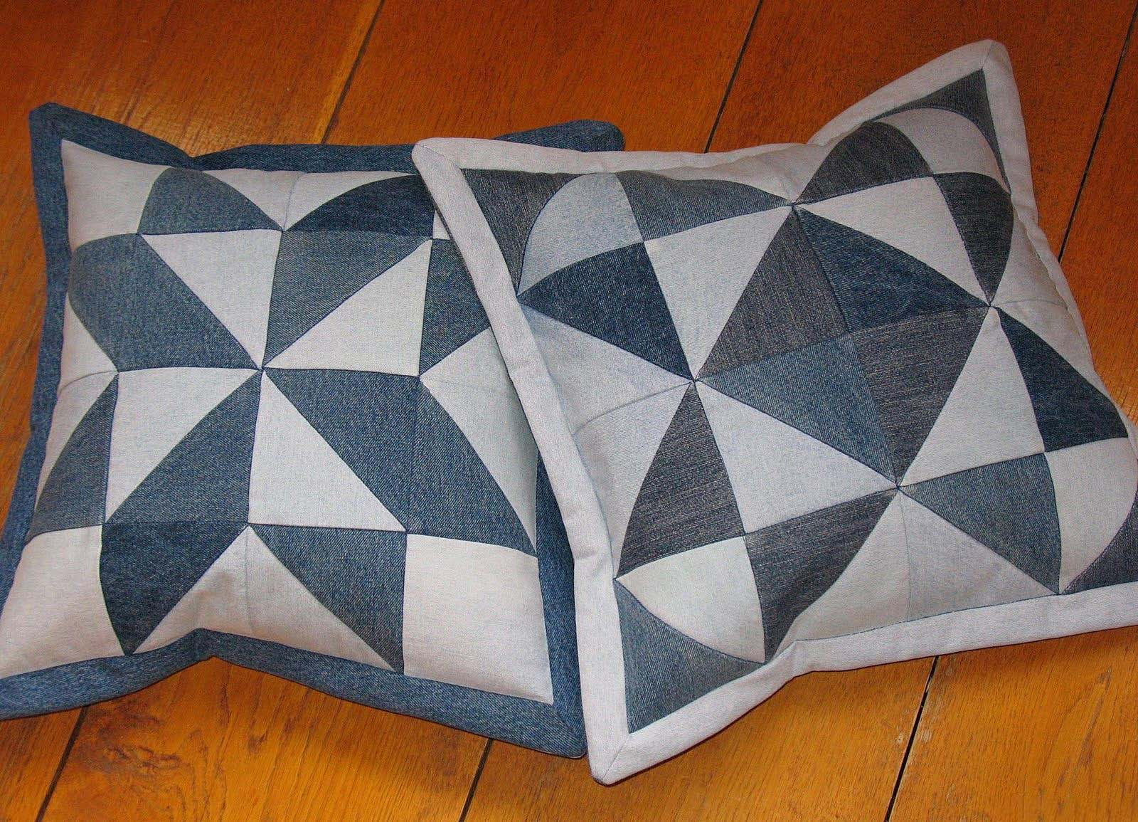 Подушка своими руками из лоскутков ткани фото 9