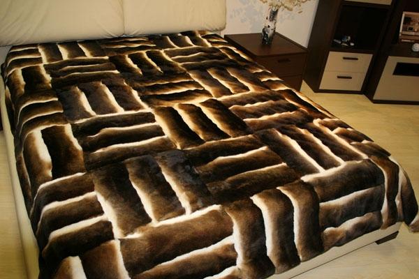 Как сшить одеяло из меха 39