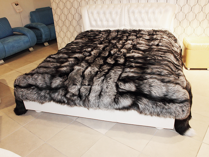 Как сшить одеяло из меха 58
