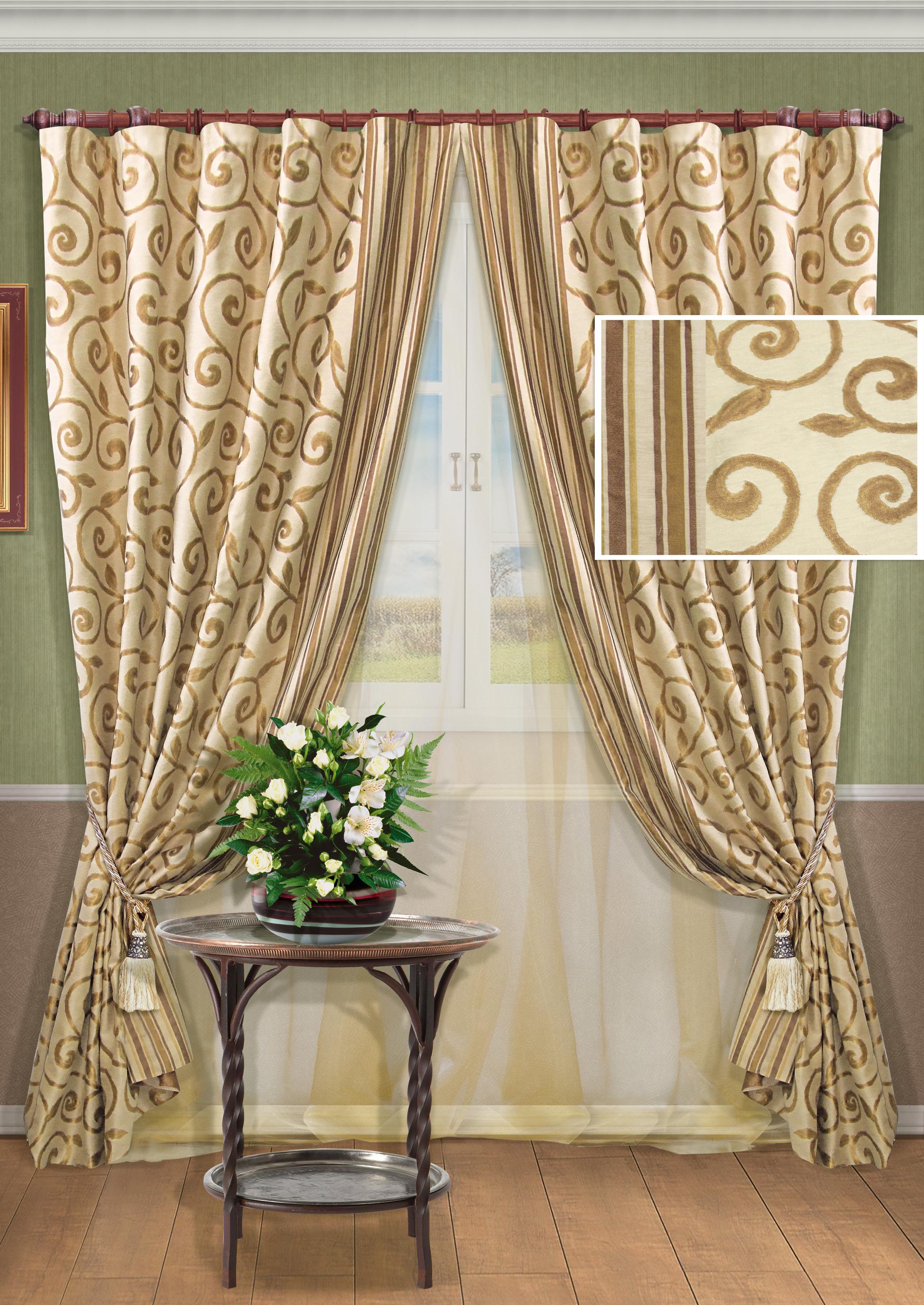 Шторы для гостиной: завершающий штрих гармонично интерьера