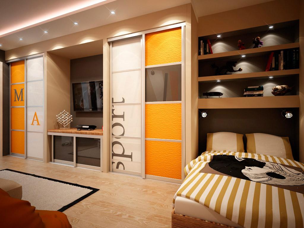 большой шкаф в однокомнатной квартире фото модели