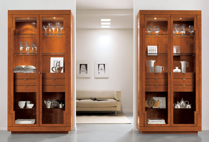 Шкафы со стеклом (29 фото): подсветка для стеклянных полок, .