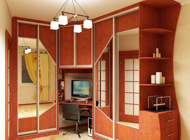 Шкафы-столы (42 фото): рабочее место в виде трансформера с о.