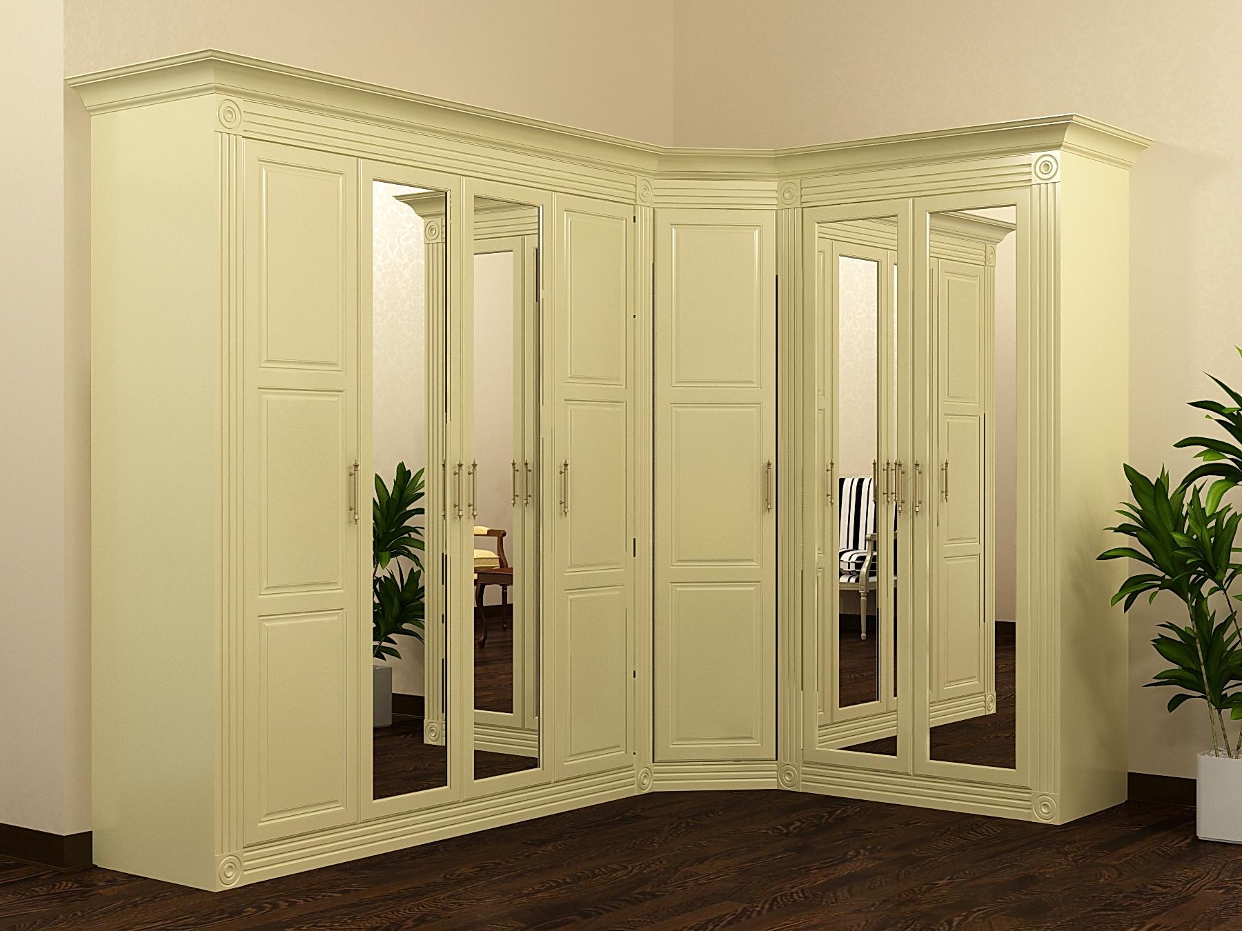 Шкафы в классическом стиле (47 фото): зеркальный шкаф в прих.