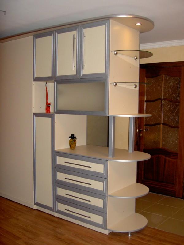 Стенки с вместительным шкафом в комнату (47 фото): угловая м.