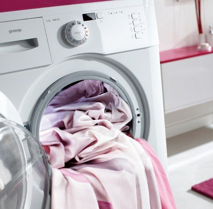 Как стирать льняные шторы (много фото). Как гладить и сушить