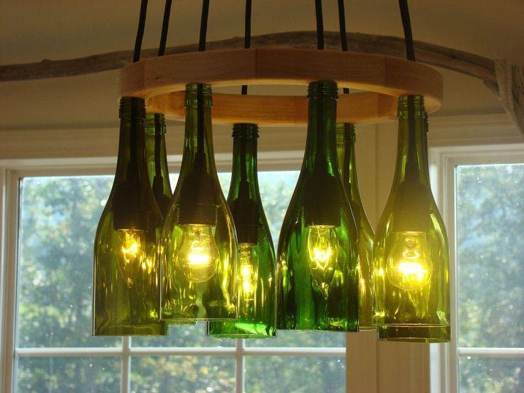 Вариант изготовления люстры из бутылок