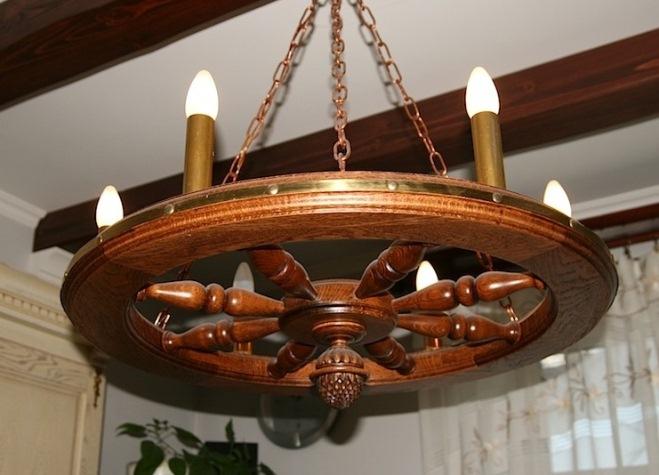 Изготовление деревянных люстр своими руками