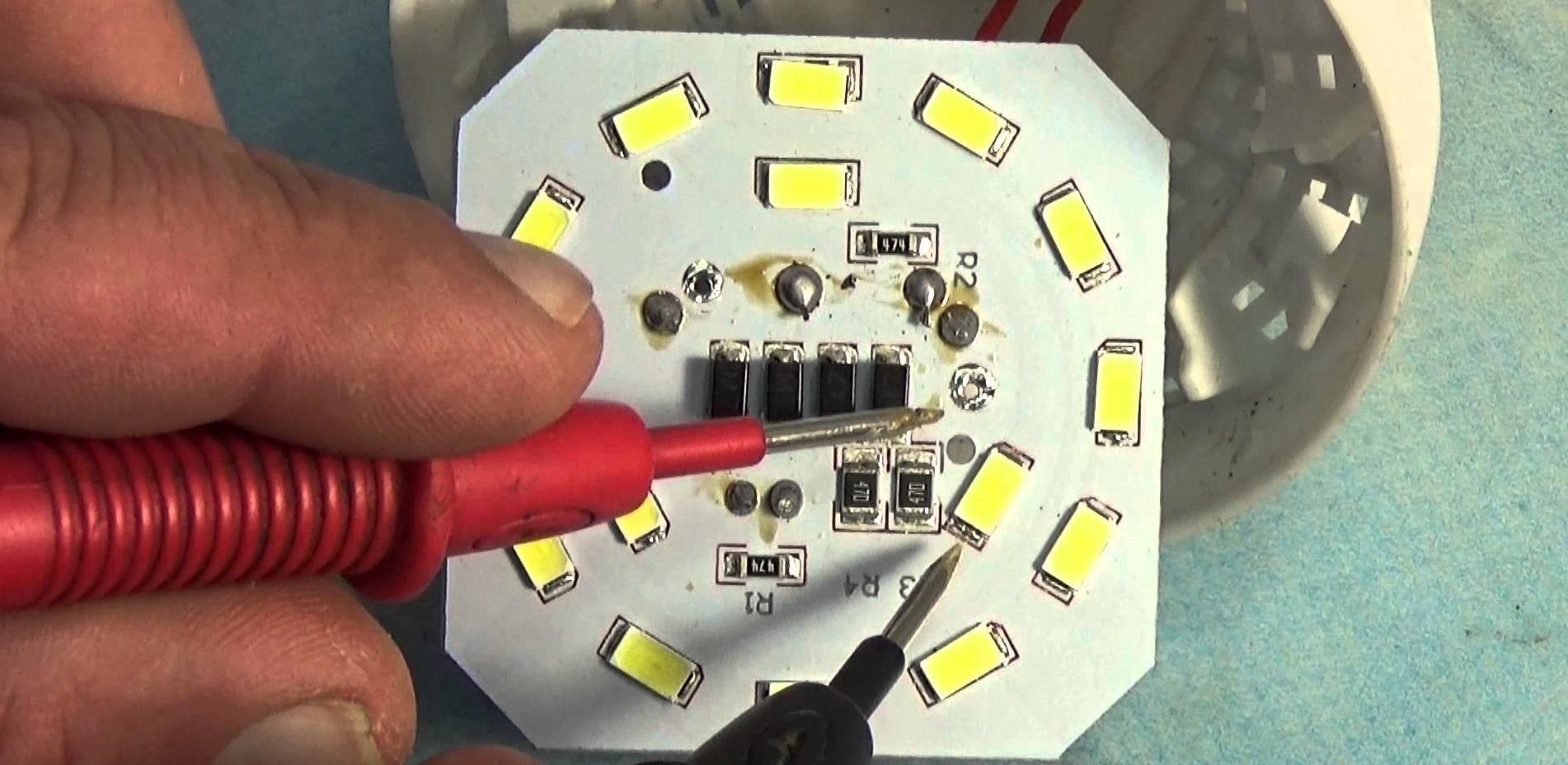 Как отремонтировать led лампу своими руками 43