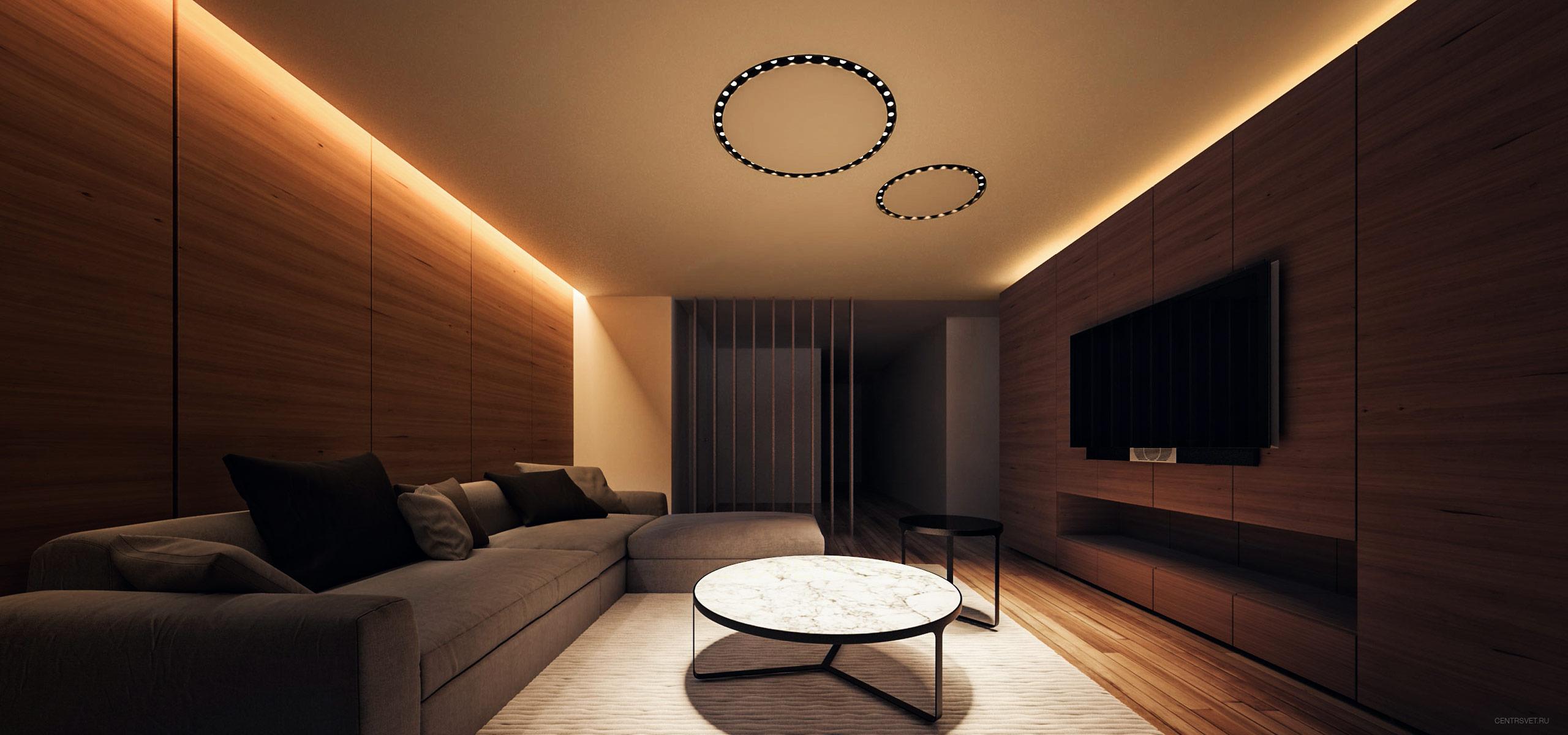 Необычное освещене в комнату