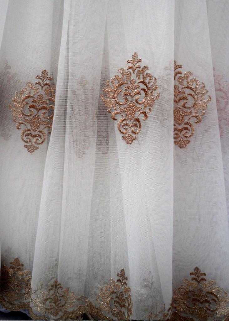 Тюль сетка с вышивкой для зала фото 44
