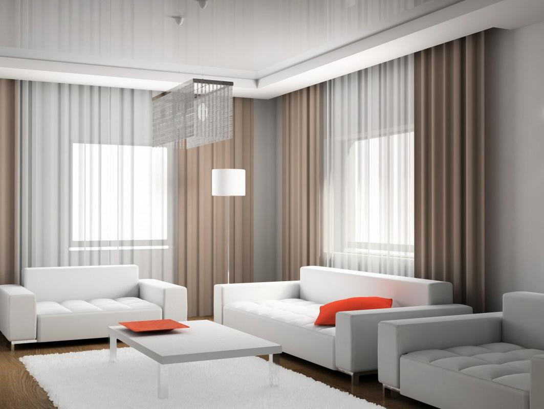 Тюль для гостиной дизайн 2018