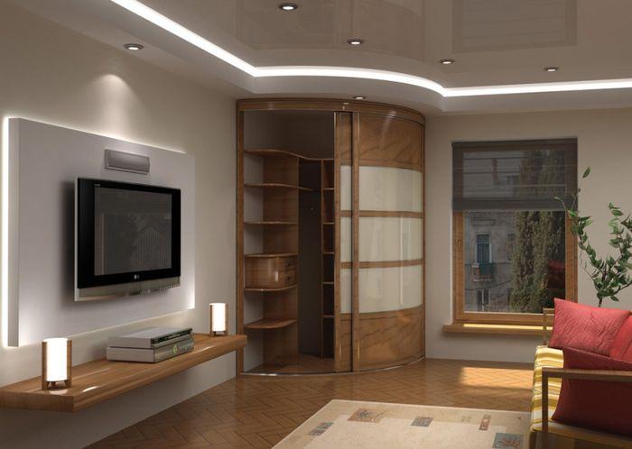Шкаф купе в гостиную: фото, дизайн, идеи 38