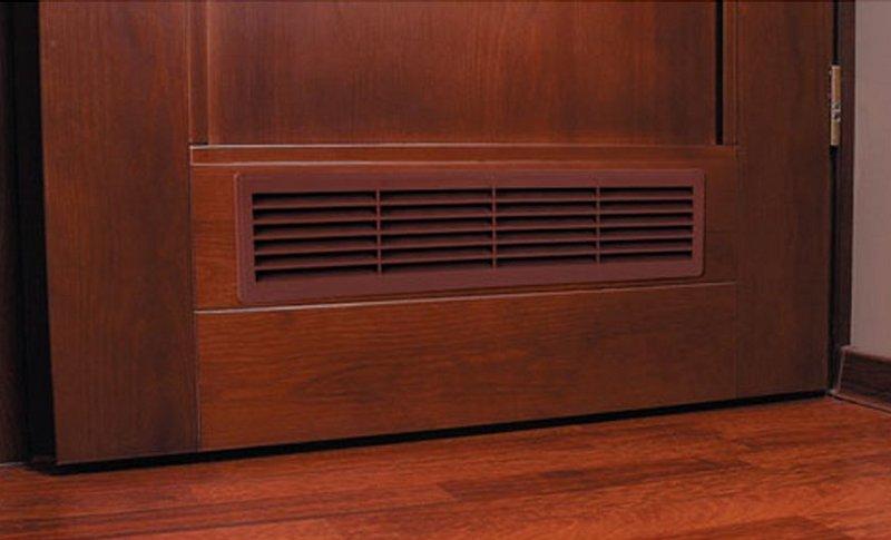 Двери с вентиляционными решетками для ванной