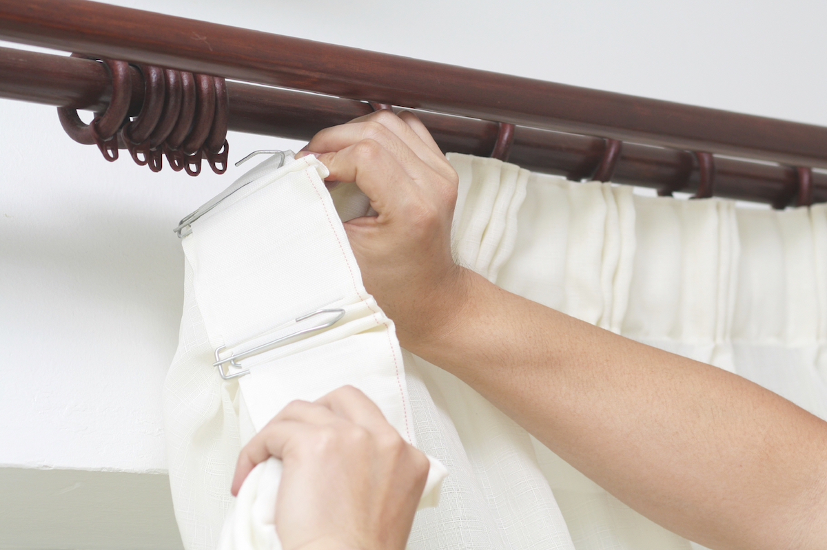 варианты подвески штор