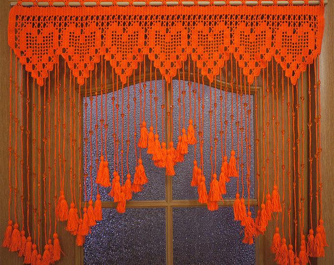 Вязание крючком занавески и шторы