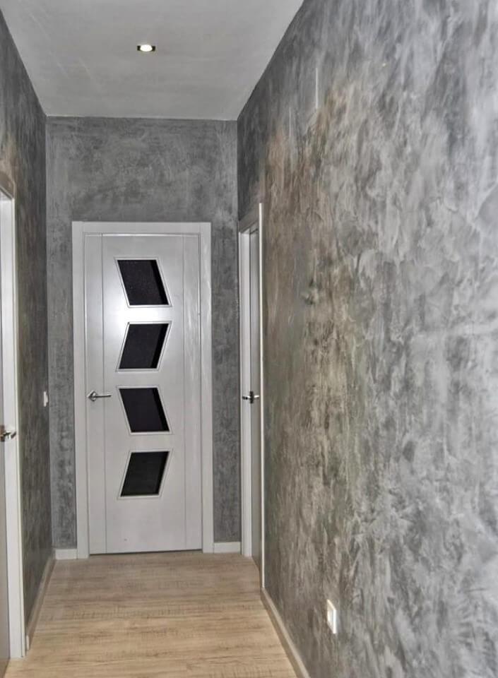Декоративная штукатурка в прихожей и коридоре: 50 фото