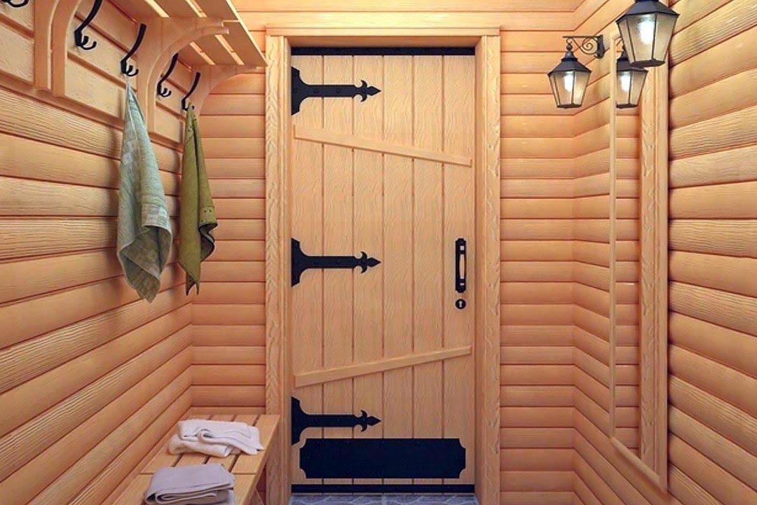Двери для парилки деревянные