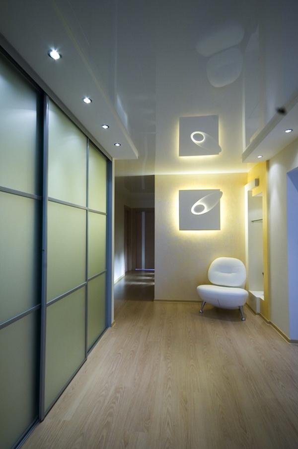 Какой потолок лучше сделать в коридоре фото 305