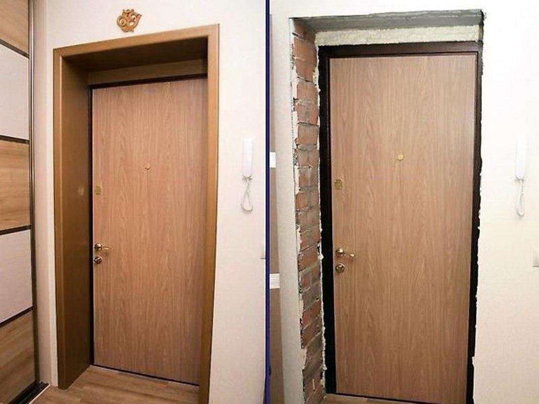 Отделать железную дверь своими руками фото 109