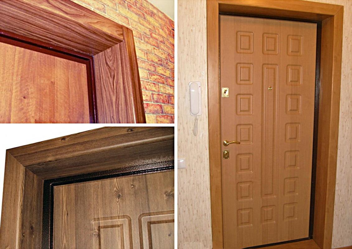 Обналичка входных дверей своими руками 29