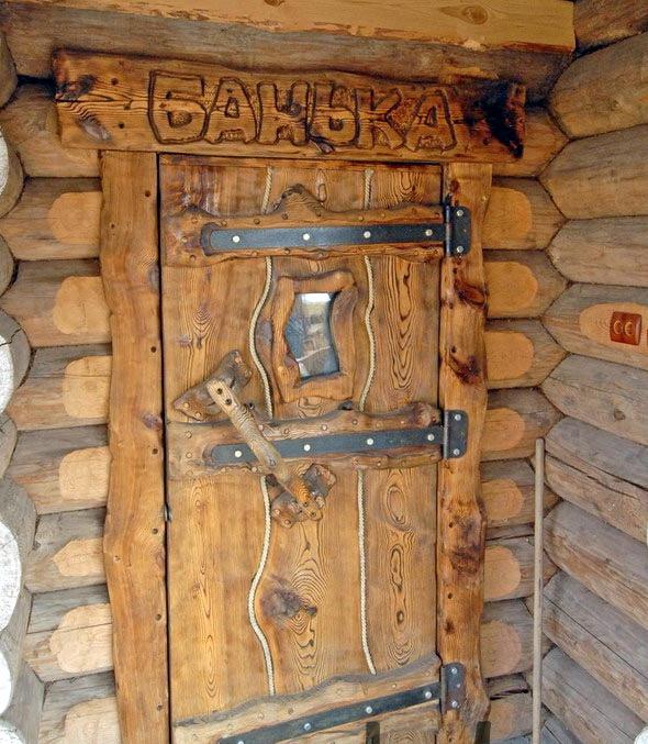 Дверь для бани своими руками из дерева