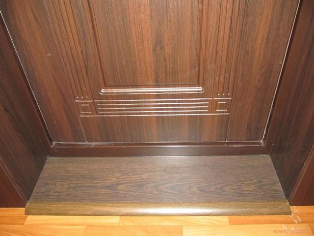 Как сделать порог входной двери в квартире фото